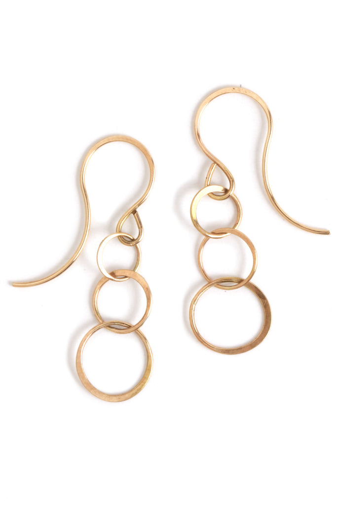 Lightweight chain earrings - Melissa Joy Manning Jewelry