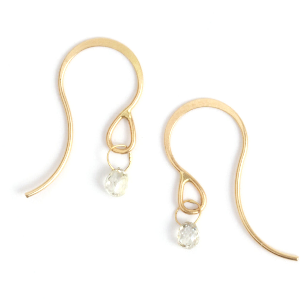 Diamond Drop Earrings - Melissa Joy Manning Jewelry