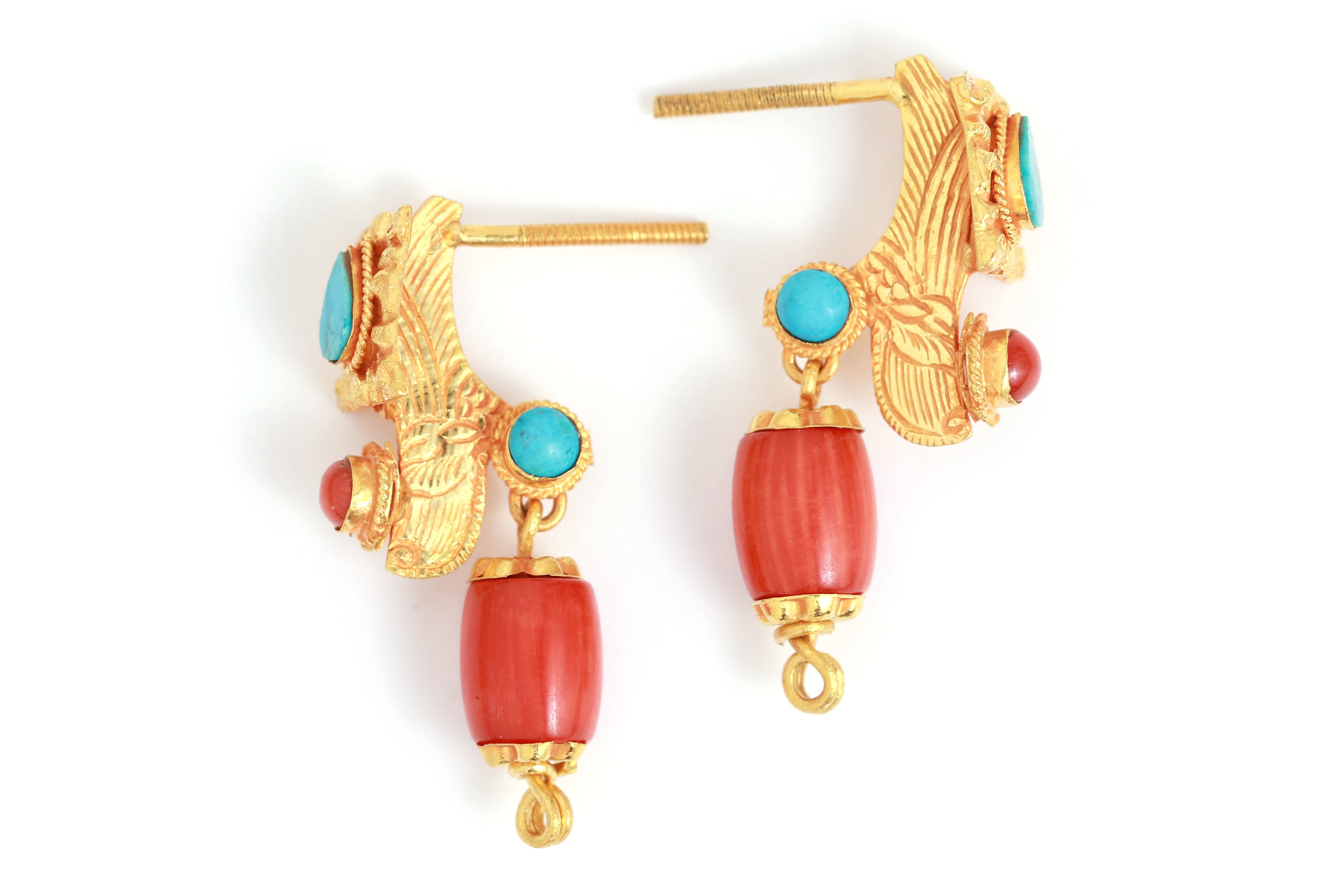 5a48d2bfe Half Alung Design Earrings - Melissa Joy Manning Jewelry