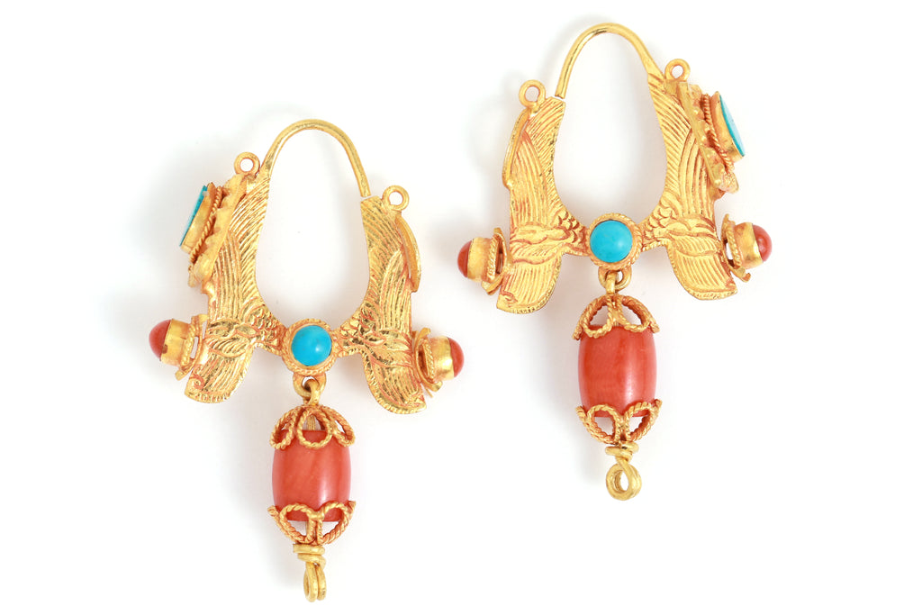 Alung Tibetan Design Earrings - Melissa Joy Manning Jewelry