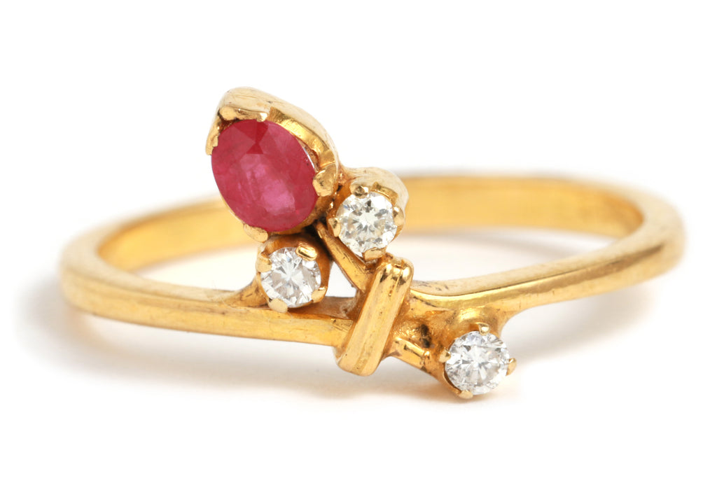 Ruby and Diamond Branch Ring - Melissa Joy Manning Jewelry