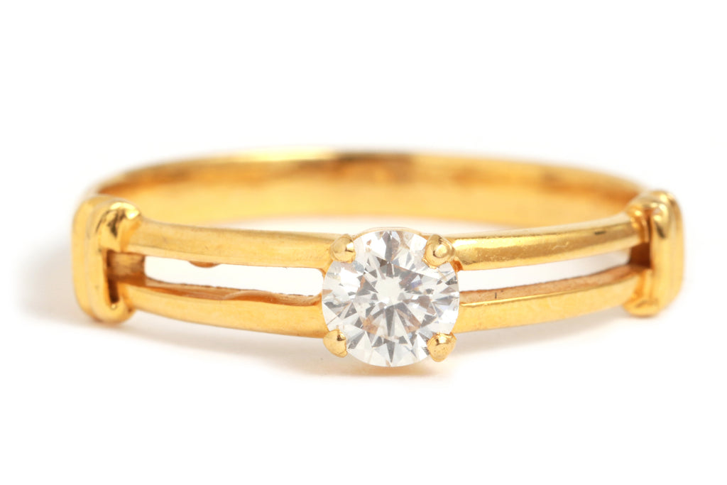 Half Double Band Diamond Ring - Melissa Joy Manning Jewelry