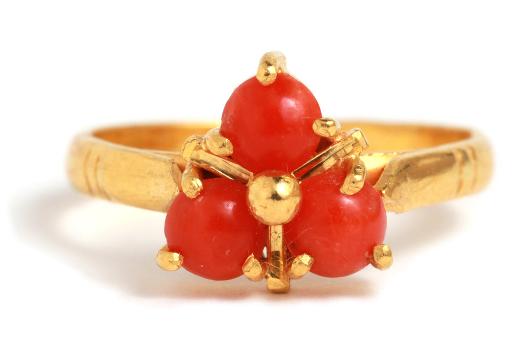 Coral Trio Ring - Melissa Joy Manning Jewelry