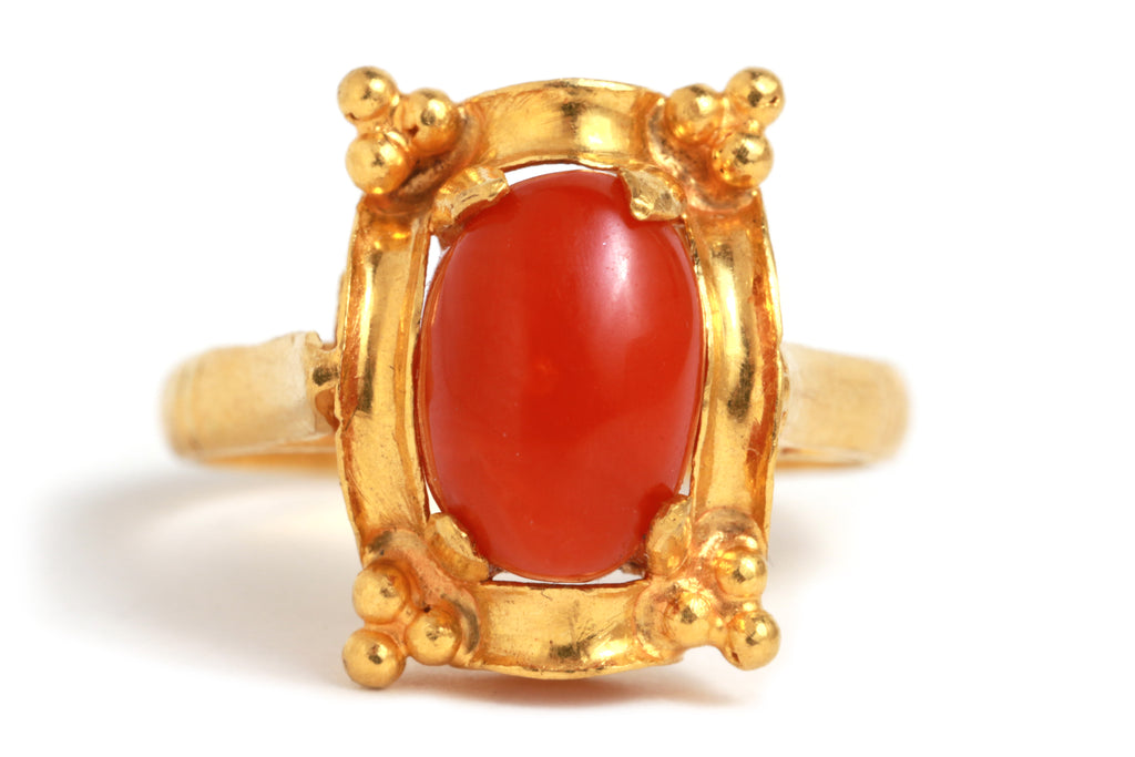 Coral Frame Ring - Melissa Joy Manning Jewelry