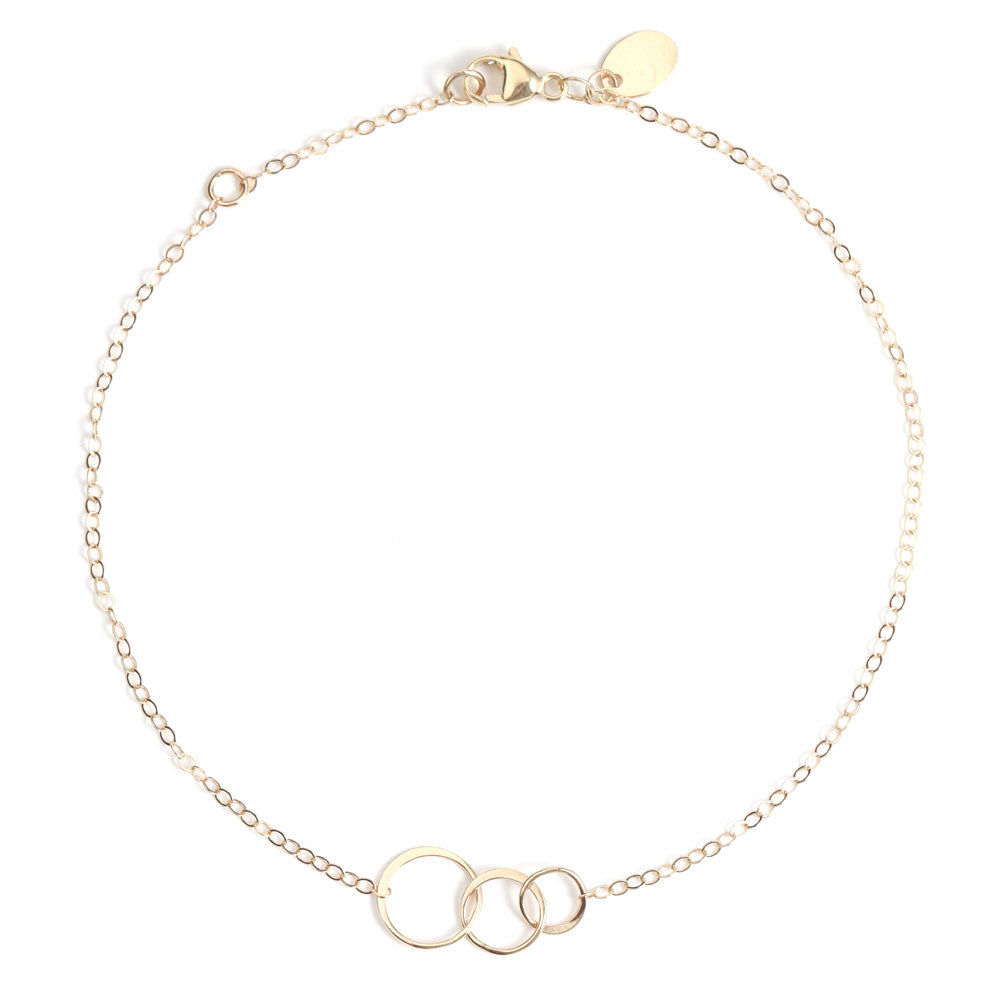 Classic graduated circle anklet