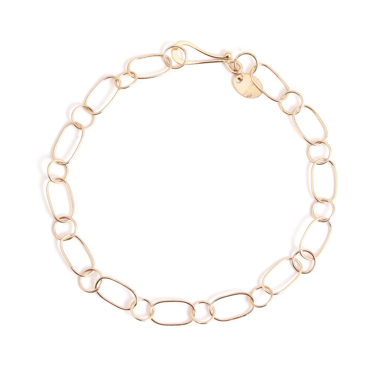 Oval and round chain bracelet