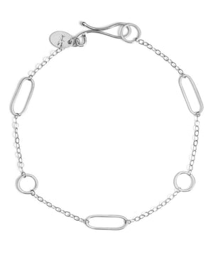 Multi shape chain bracelet