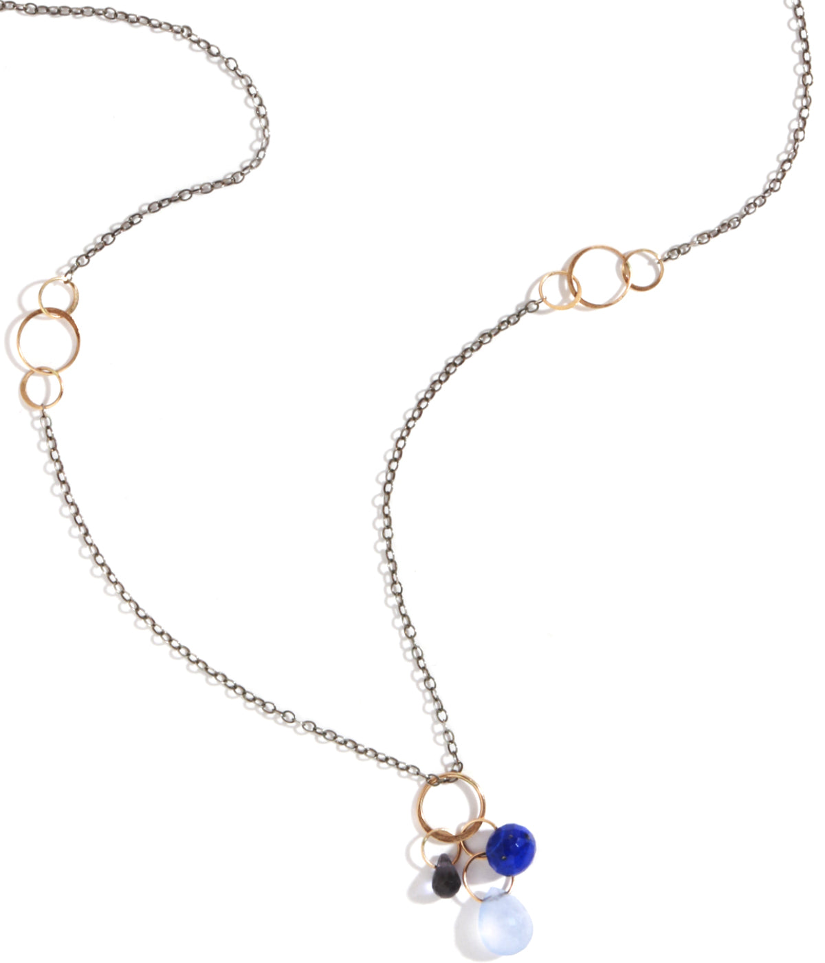 Iolite, Lapis, and Chalcedony Necklace - Melissa Joy Manning Jewelry
