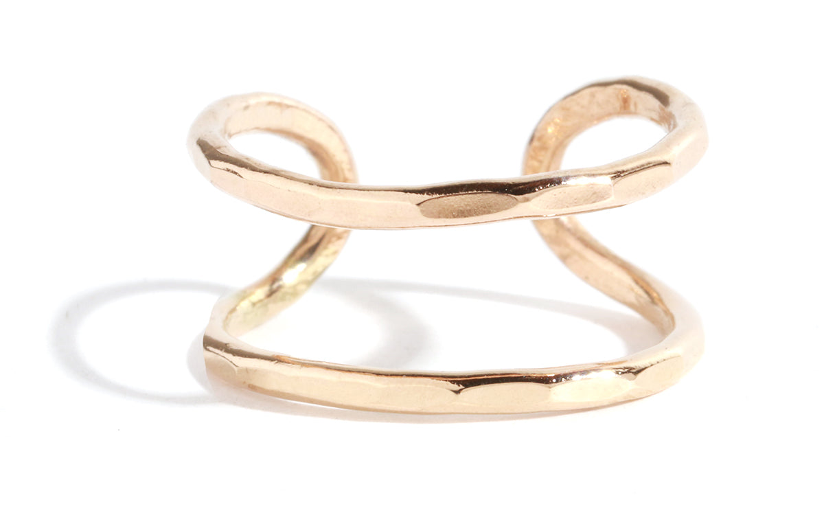 Double open back ring - Melissa Joy Manning Jewelry