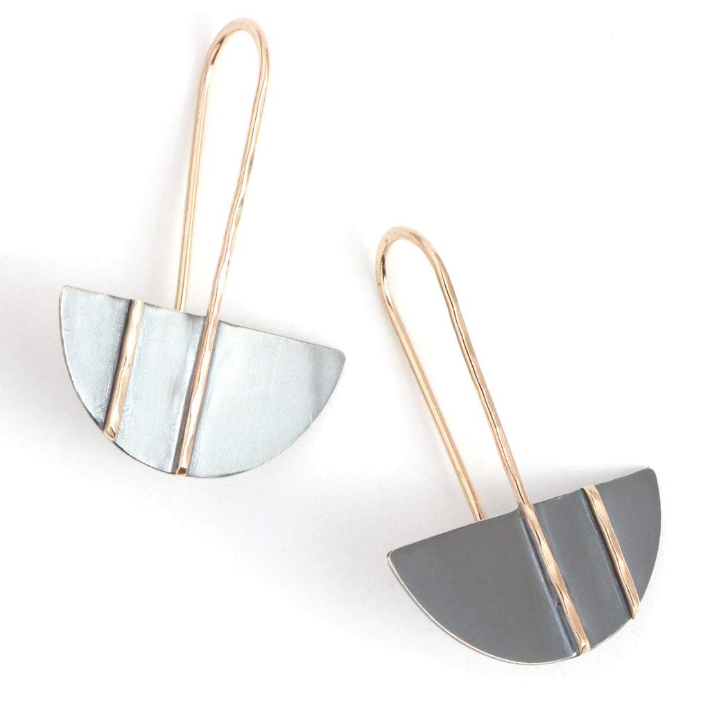 Hemisphere Drop Earrings - Melissa Joy Manning Jewelry