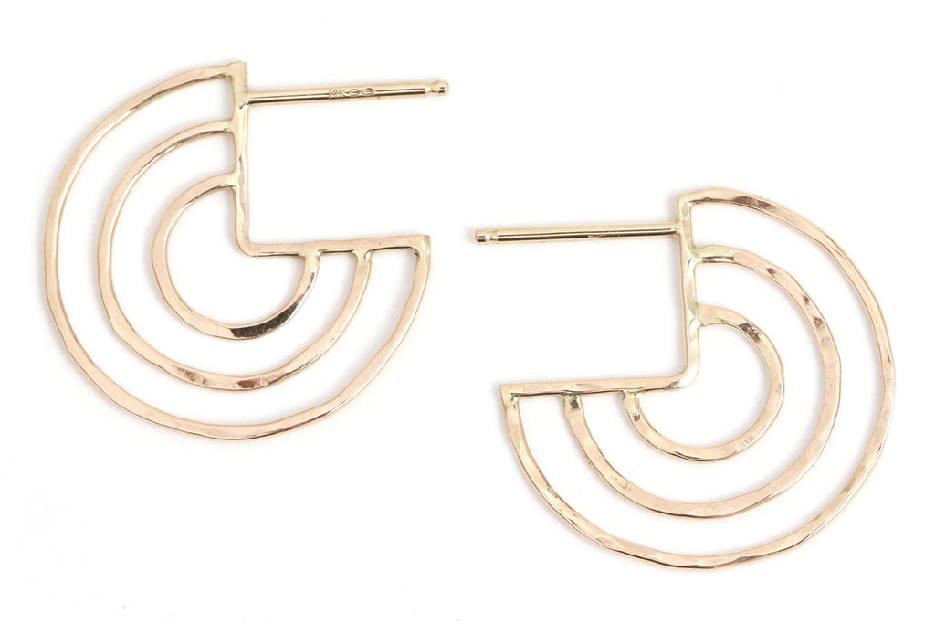Radar Circle post earings - Melissa Joy Manning Jewelry