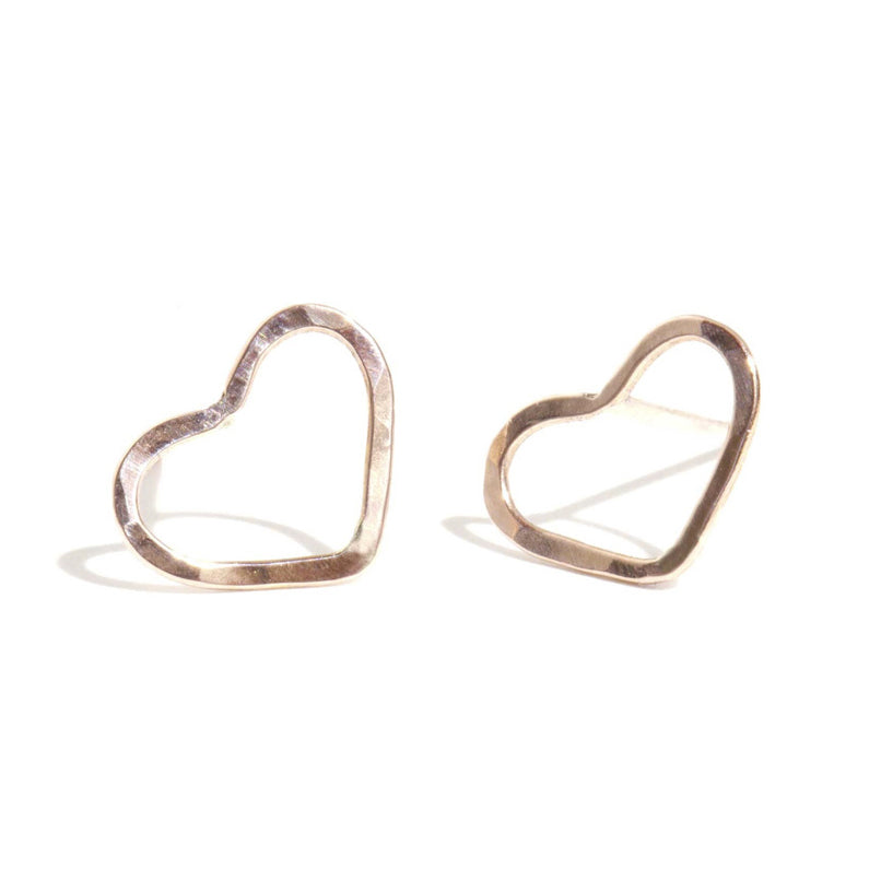 Heart Studs - Melissa Joy Manning Jewelry
