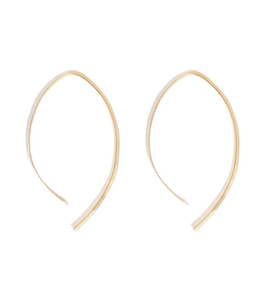 1.5 Inch Wishbone Hoops - Melissa Joy Manning Jewelry