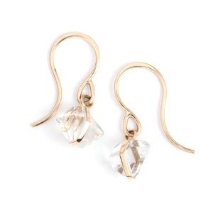 Bezel Wrap Herkimer Drop Earrings - Melissa Joy Manning Jewelry