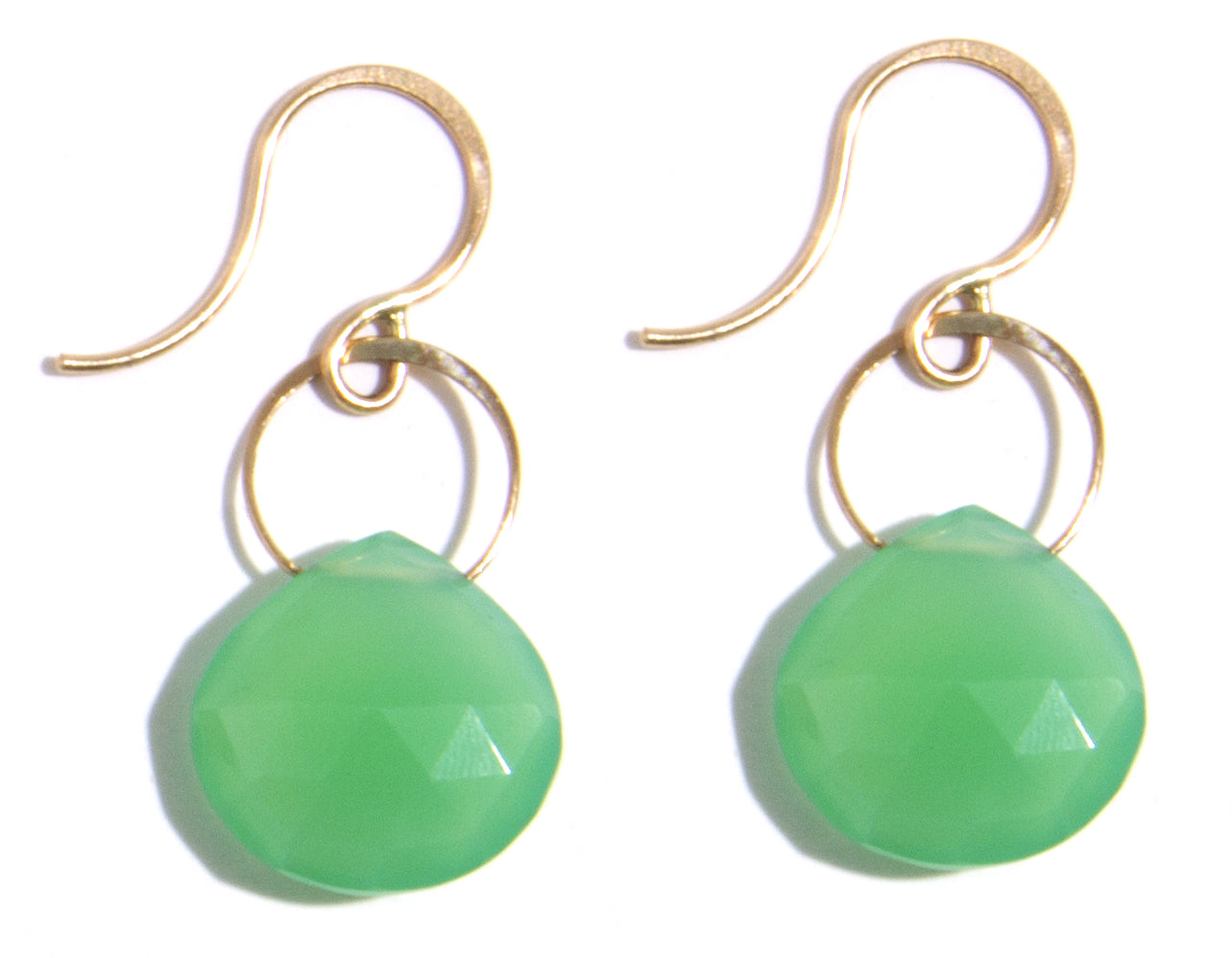 Chrysoprase Single Drop Earrings - Melissa Joy Manning Jewelry