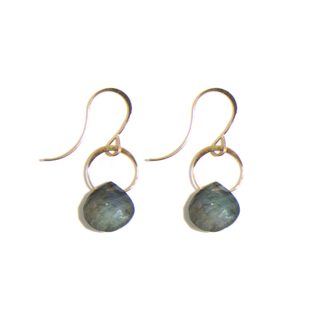 Labradorite Single Drop Earrings - Melissa Joy Manning Jewelry