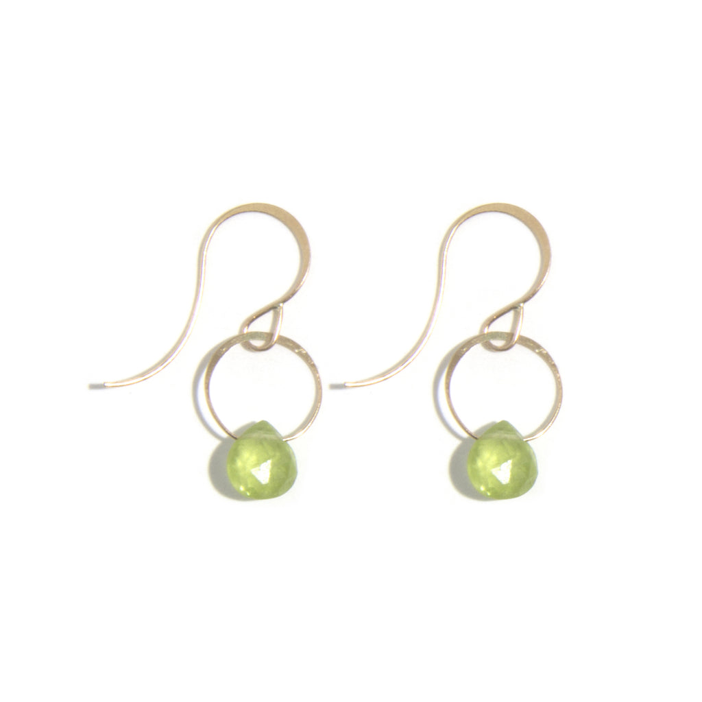 Peridot Single Drop Earrings - Melissa Joy Manning Jewelry