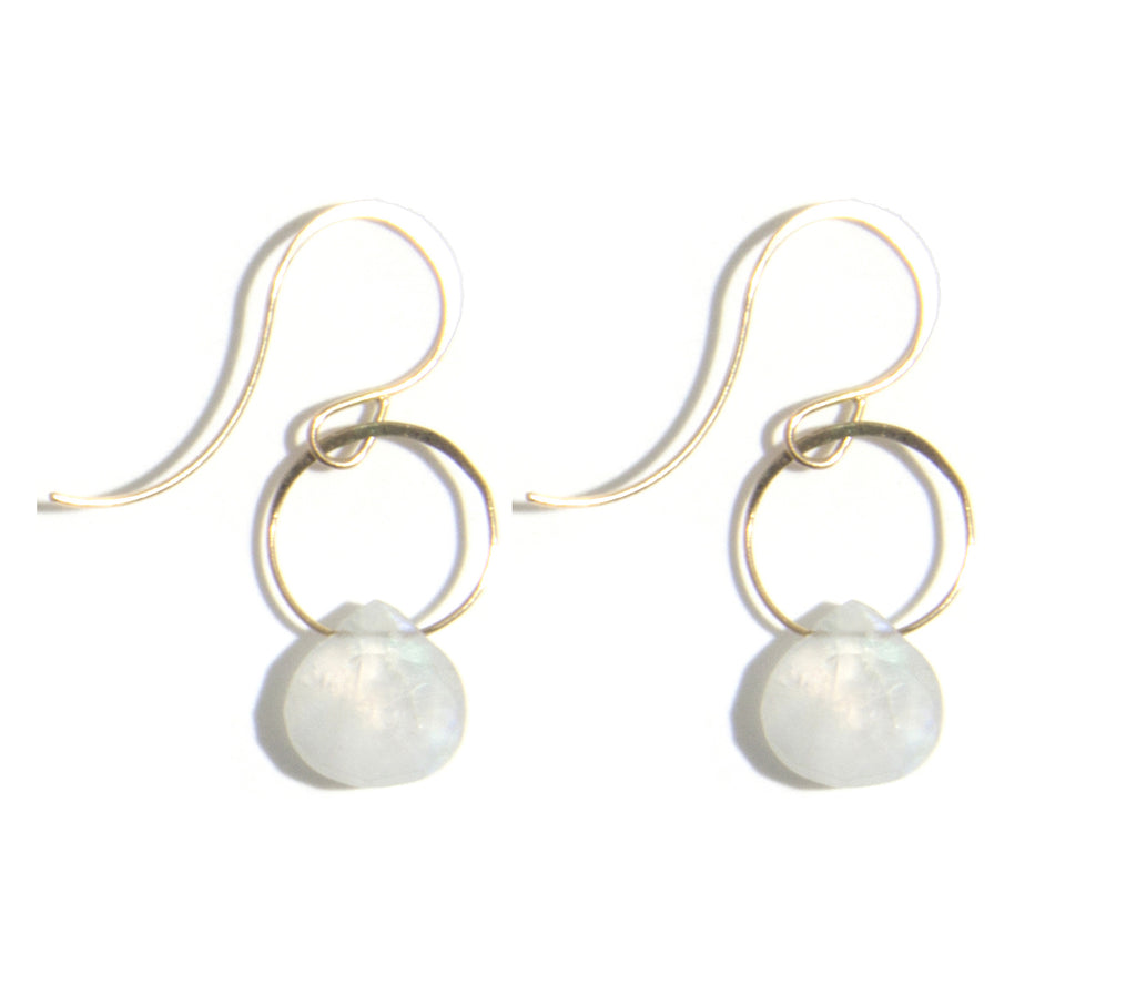 Moonstone Single Drop Earrings