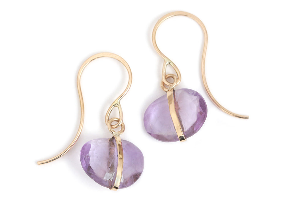 Amethyst Single Drop Earrings - Melissa Joy Manning Jewelry