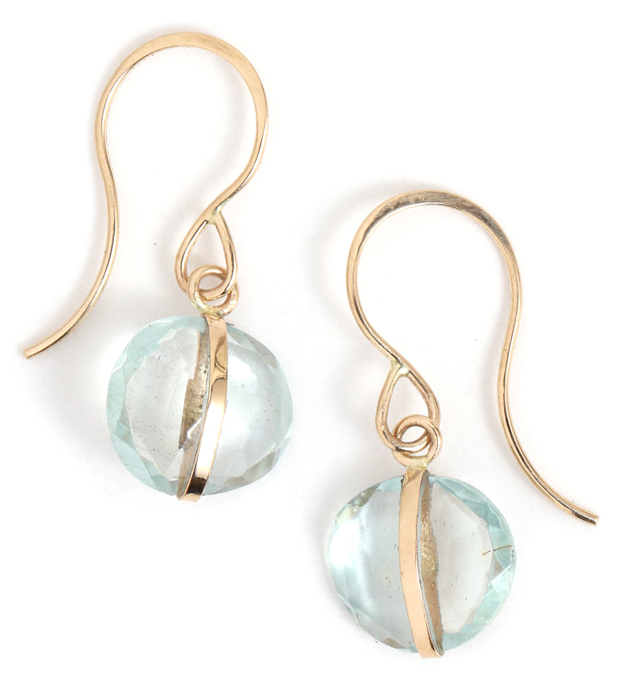 Aquamarine Single Drop Earrings - Melissa Joy Manning Jewelry
