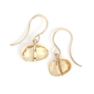 Citrine Single Drop Earrings - Melissa Joy Manning Jewelry