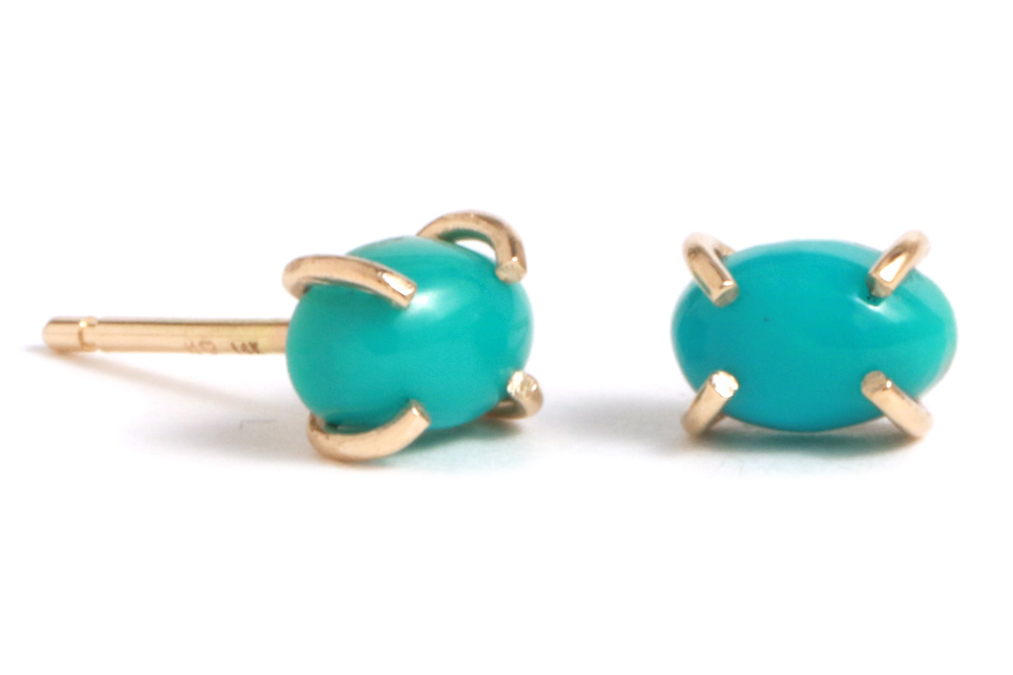 Arizona Turquoise Studs - Melissa Joy Manning Jewelry
