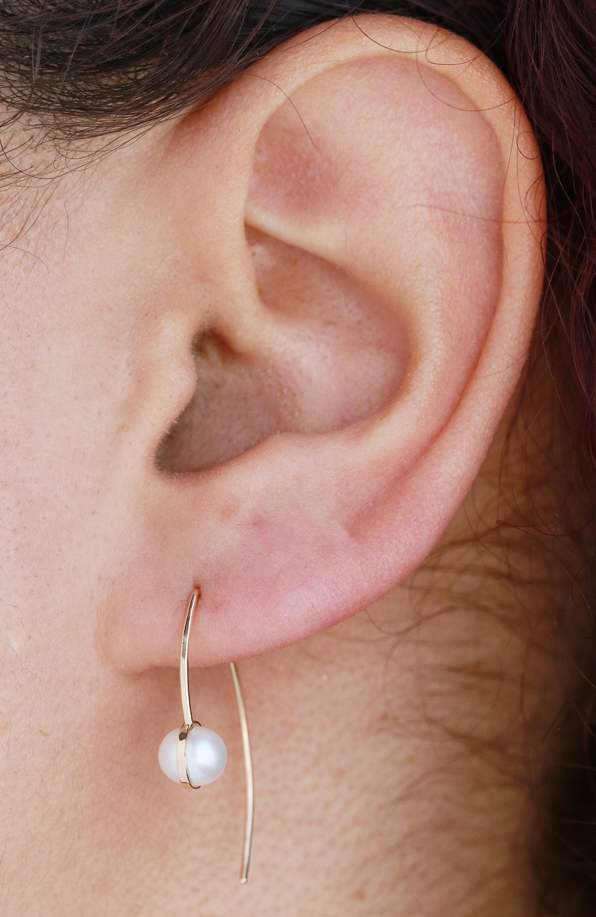 Pearl Wishbone Earrings - Melissa Joy Manning Jewelry