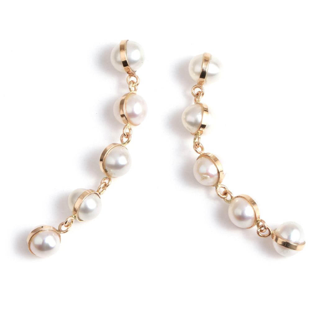 Five Drop Pearl Earrings - Melissa Joy Manning Jewelry