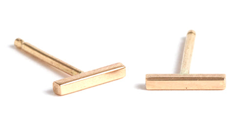Bar Stud Earrings - Melissa Joy Manning Jewelry