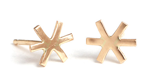 Asterix Stud Earrings - Melissa Joy Manning Jewelry