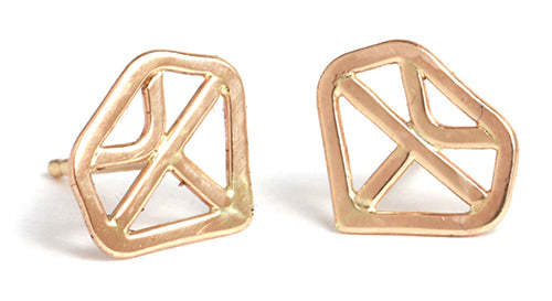 Diamond Shape Stud Earrings - Melissa Joy Manning Jewelry