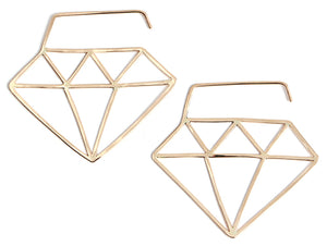 Diamond Shape Hoop Earrings - Melissa Joy Manning Jewelry