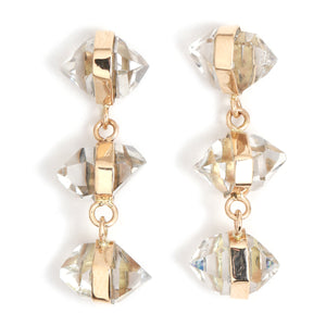 Herkimer Three Drop Earrings - Melissa Joy Manning Jewelry