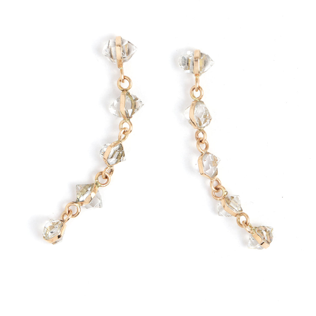 Herkimer Five Drop Earrings - Melissa Joy Manning Jewelry