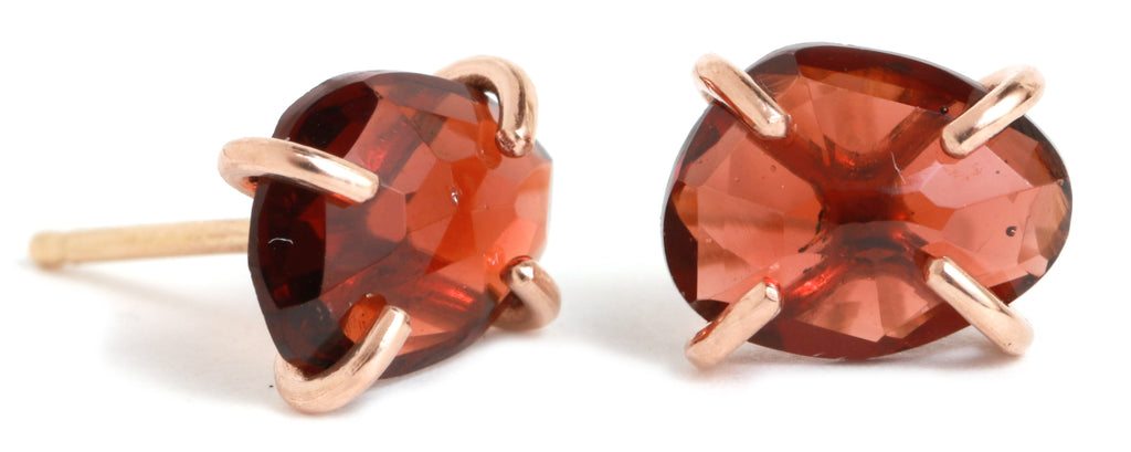 Prong Set Garnet Studs - Melissa Joy Manning Jewelry