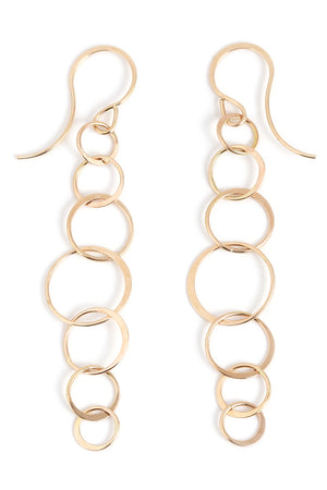 Long lightweight chain earrings - Melissa Joy Manning Jewelry