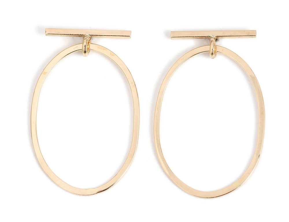 Bar and Round Drop Earrings - Melissa Joy Manning Jewelry