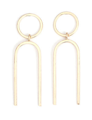 U Drop Earrings - Melissa Joy Manning Jewelry