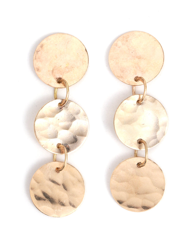 Textured Disc Drop Earrings - Melissa Joy Manning Jewelry