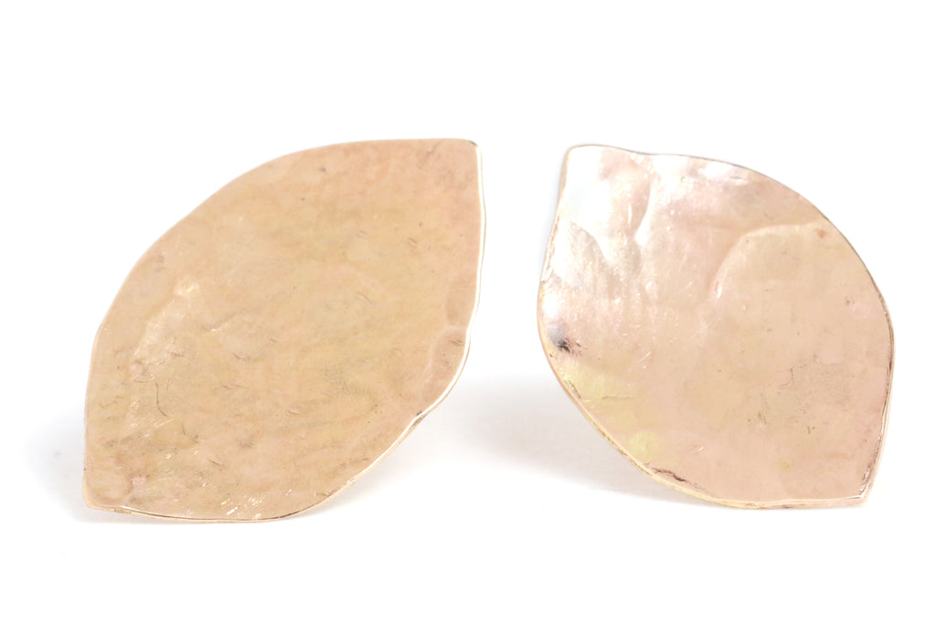 Textured Leaf Stud Earrings