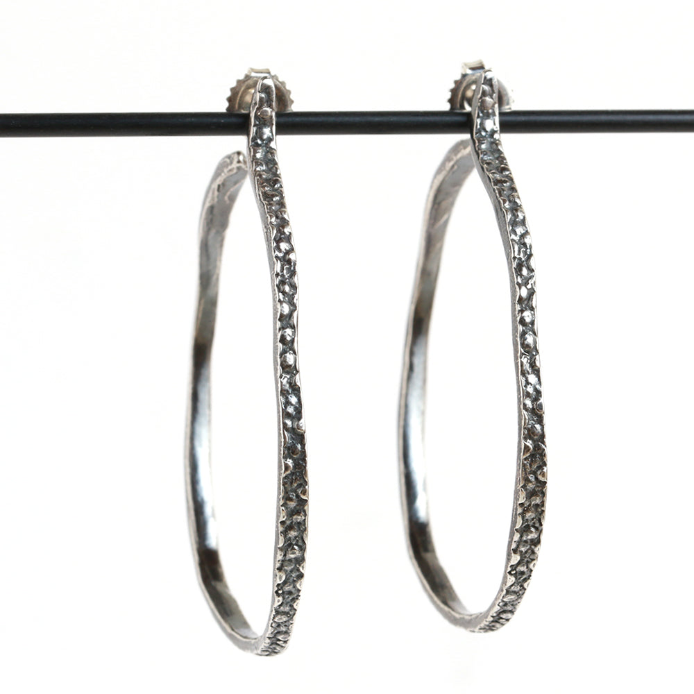 Stingray Hoop Earrings - Melissa Joy Manning Jewelry