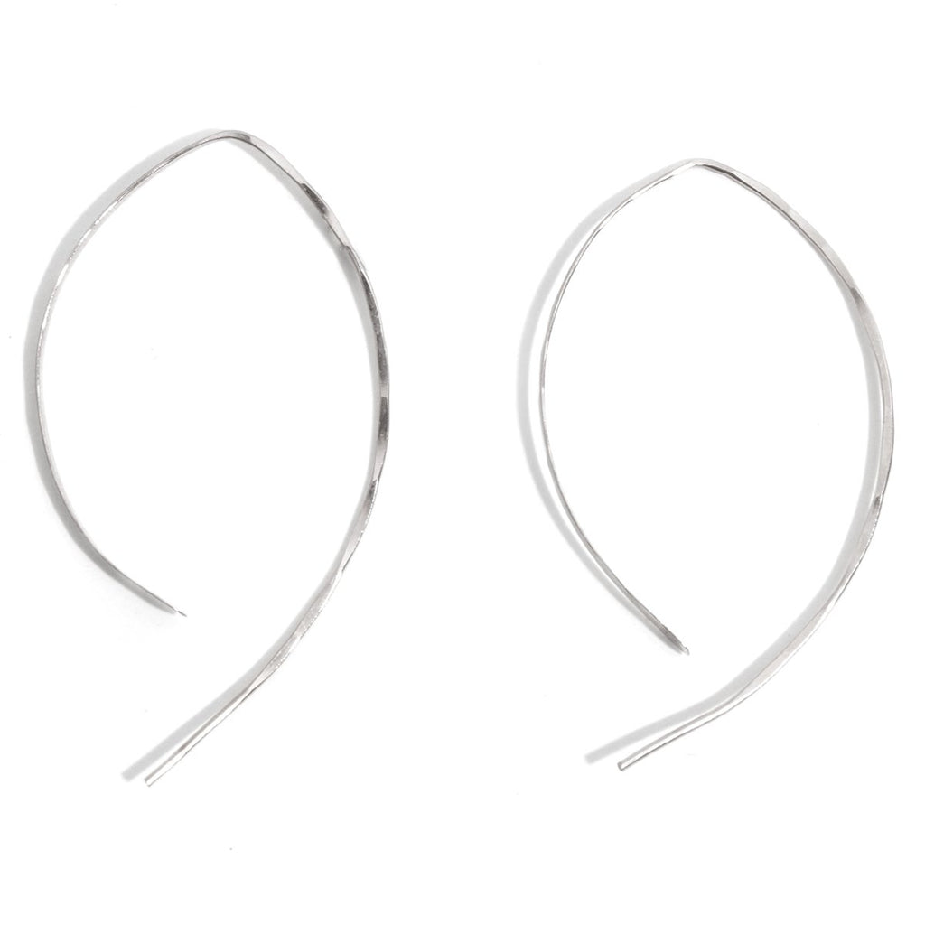 Wishbone earrings - 2 inch - Melissa Joy Manning Jewelry