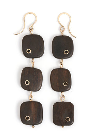 Ebony Triple Drop Earrings - Melissa Joy Manning Jewelry