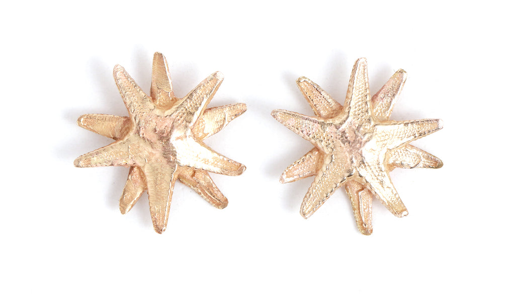 Double Starfish Stud Earrings - Melissa Joy Manning Jewelry
