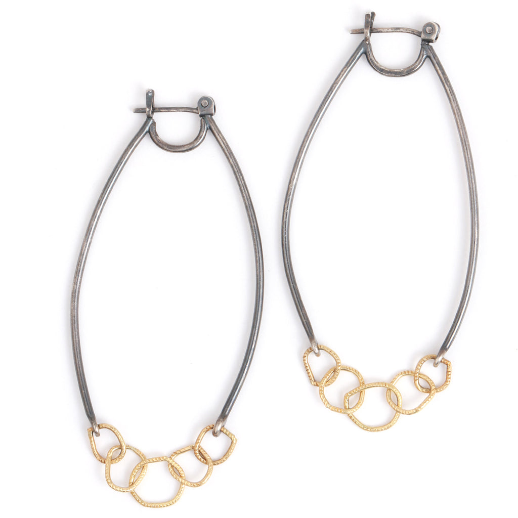 Chain Link Hoop earrings - Melissa Joy Manning Jewelry