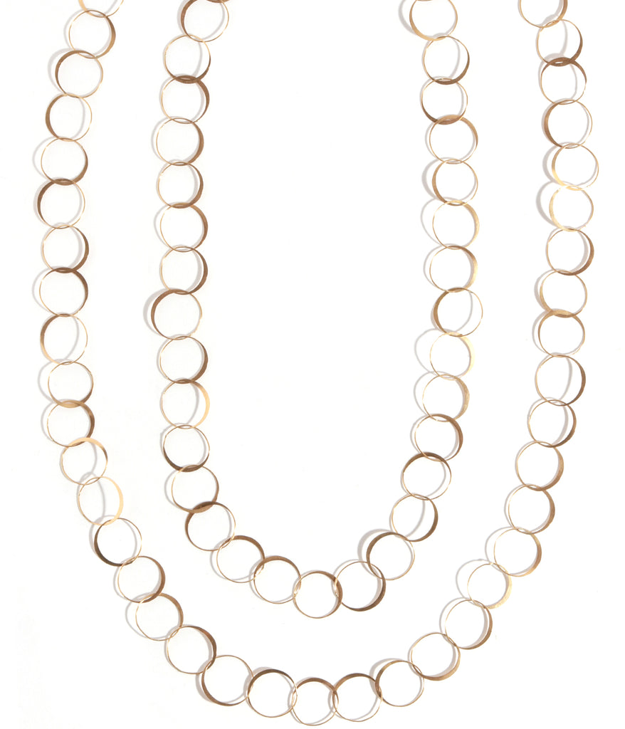 Extra long handmade chain necklace - Melissa Joy Manning Jewelry