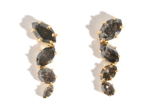 Reclaimed Grey Diamond Drop Earrings - Melissa Joy Manning Jewelry