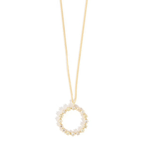Diamond Circle Pendant Necklace - Melissa Joy Manning Jewelry