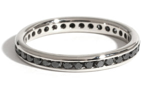 Channel Set Black Diamond Band - Melissa Joy Manning Jewelry