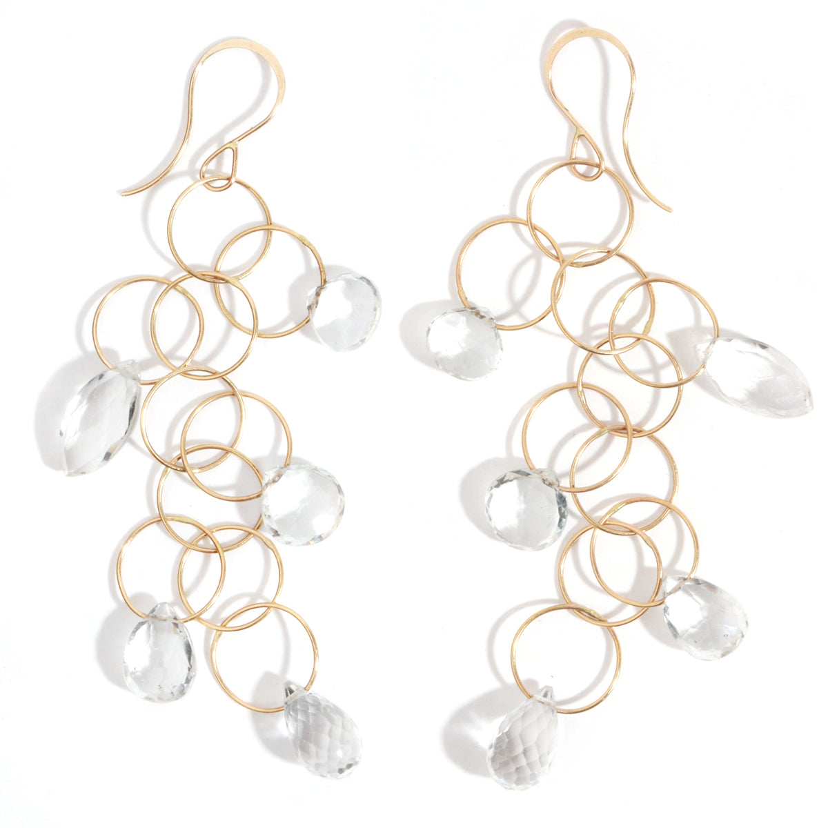 5 drop white topaz earrings - Melissa Joy Manning Jewelry